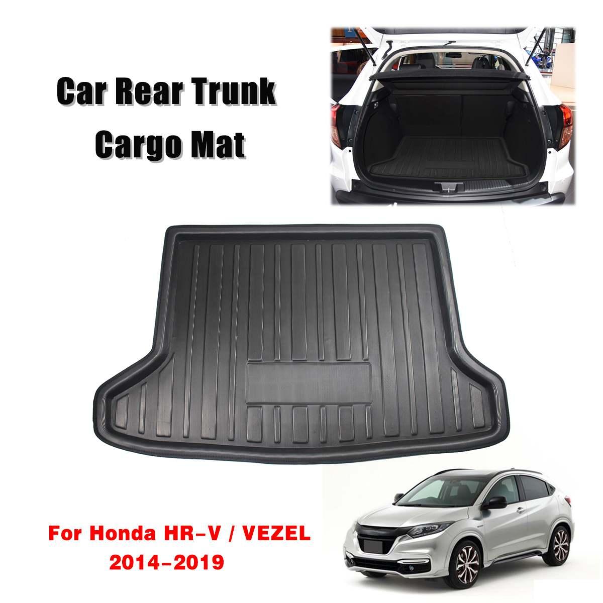 Cargo Liner Boot Tray Rear Trunk Cover Matt Mat Floor Carpet Kick Pad Mud Non-slip Anti Dust For Honda HR-V Vezel HRV 2014 -2019