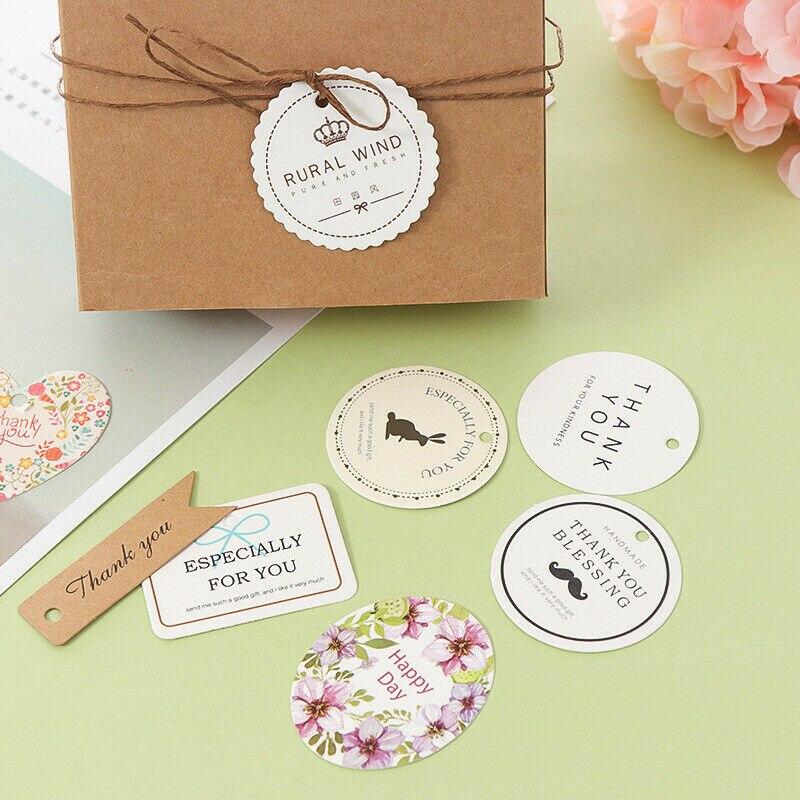 50 pçs presente artesanato tag pendurar papel casamento aniversário festa de bebê chá de fraldas etiqueta do presente especialmente para você marca de bagagem decoração proops