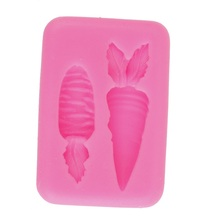 3D Carrot Food Grade Silicone Molds Fondant Cake Mould Chocolate Baking DIY Cake Mould Easter Mould 3 layer fondant cake mould