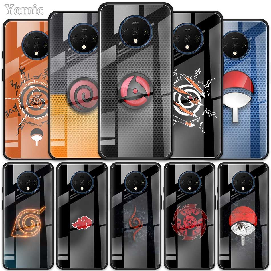 Naruto Marker Tempered Glass Case For Oneplus 7 7T Pro 5G Oneplus7Pro 7TPro Black Soft Edge Phone Cover Shell Coque