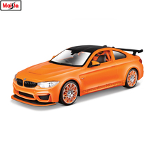 Maisto 1:24 BMW M4 alloy super toy car model For with Steering wheel control front wheel steering toy car Collecting gifts цена 2017