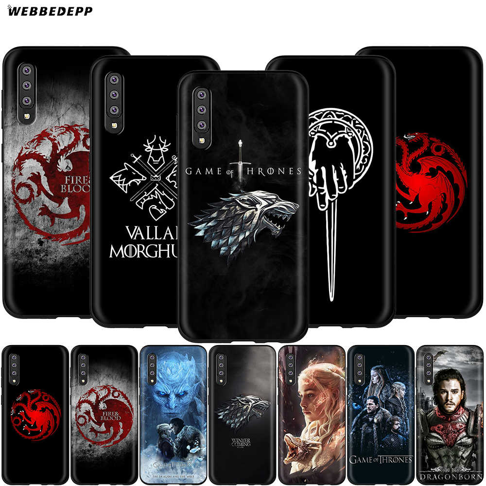 Webbedepp capa de game of thrones para samsung galaxy, s7 s8 s9 s10 plus edge note 10 8 9 a10 a20 a30 a40 a50 a60 a70