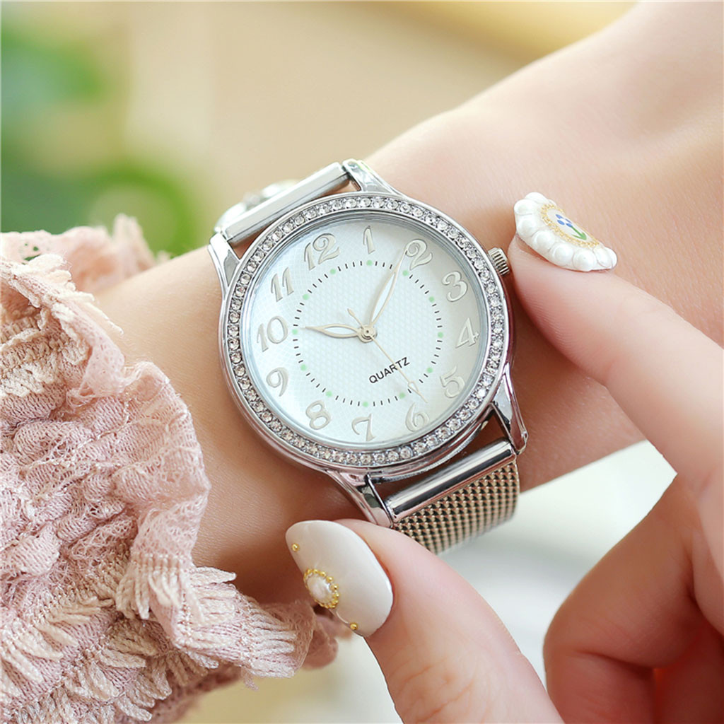 Relogio Feminino Luxury diamond Watches Quartz Watch Stainless Steel Dial Casual Ladies Watch Women Wristwatch Zegarek Damski W3 3