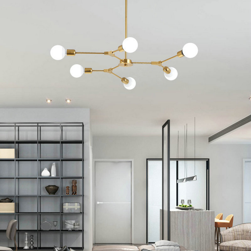 LukLoy Nordic Creative Chandelier Living Room Simple Branch ...