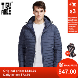 Tigre Forza di 2020 nuovi uomini di giacche a righe tasche di alta qualità rimozione cappuccio caldo Maschio casual cappotto tuta sportiva della chiusura lampo 50629