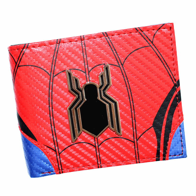 FVIP Hot Sell Spider Man Wallet Men's Short Purse Cool Design Boy's Wallets With Coin Pocket