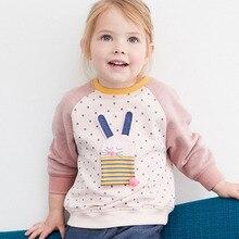 Sweatshirts Blouse Kids Hoodies Bunny Girls Infant Cotton Children Tops Black 100%Terry