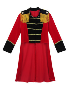 Image 3 - Kids Boys Children Circus Ringmaster Costume Fringes Gold Trimmings Tailcoat Jacket for Halloween Cosplay Carnival Clothes