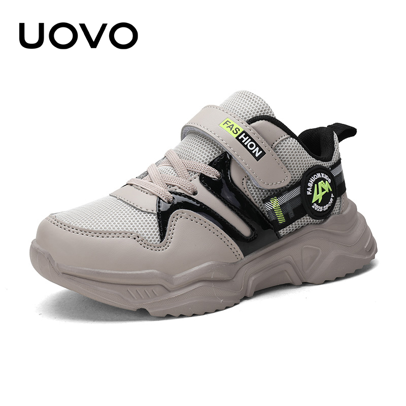 UOVO 2020 Autumn Breathable Mesh Shoes Kids Sport Shoes Boys And Girls Running Shoes Fashion Children Sneakers #28-39