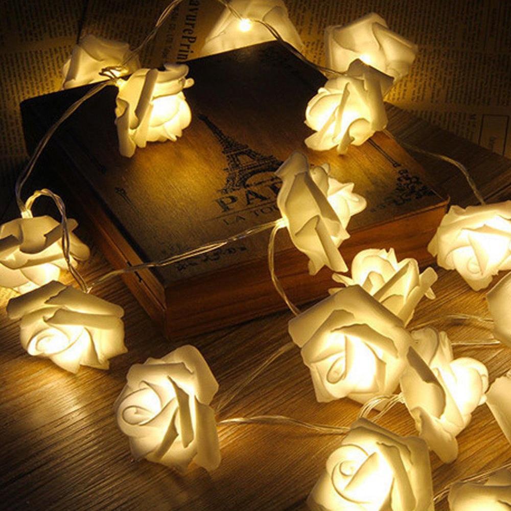 Сказочный светильник в виде Розы, 1,5/3/6 м, на батарейках, с питанием от USB, Рождественская Праздничная декоративная лампа на День святого Вале...