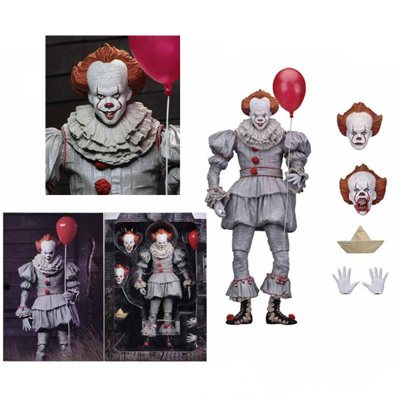 NECA scarry película Stephen King es Pennywise Joker payaso juguetes figura de acción cosplay horror calle Freddy muñecas día de Halloween