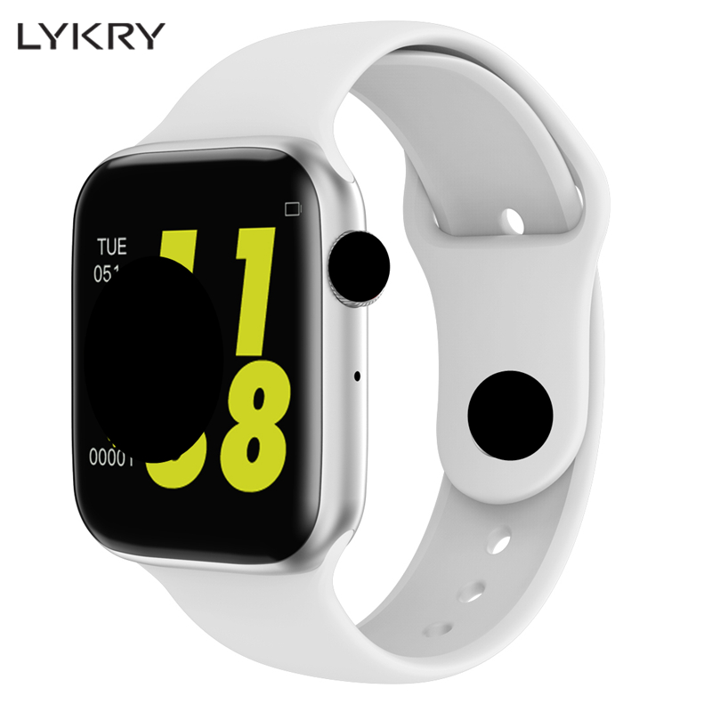 LYKRY <font><b>IWO</b></font> <font><b>8</b></font> lite <font><b>Smart</b></font> <font><b>Watch</b></font> W34 Men Women <font><b>44mm</b></font> 1.54 inch ECG Heart Rate Monitor Sport Activity Tracker Smartwatches for Apple image