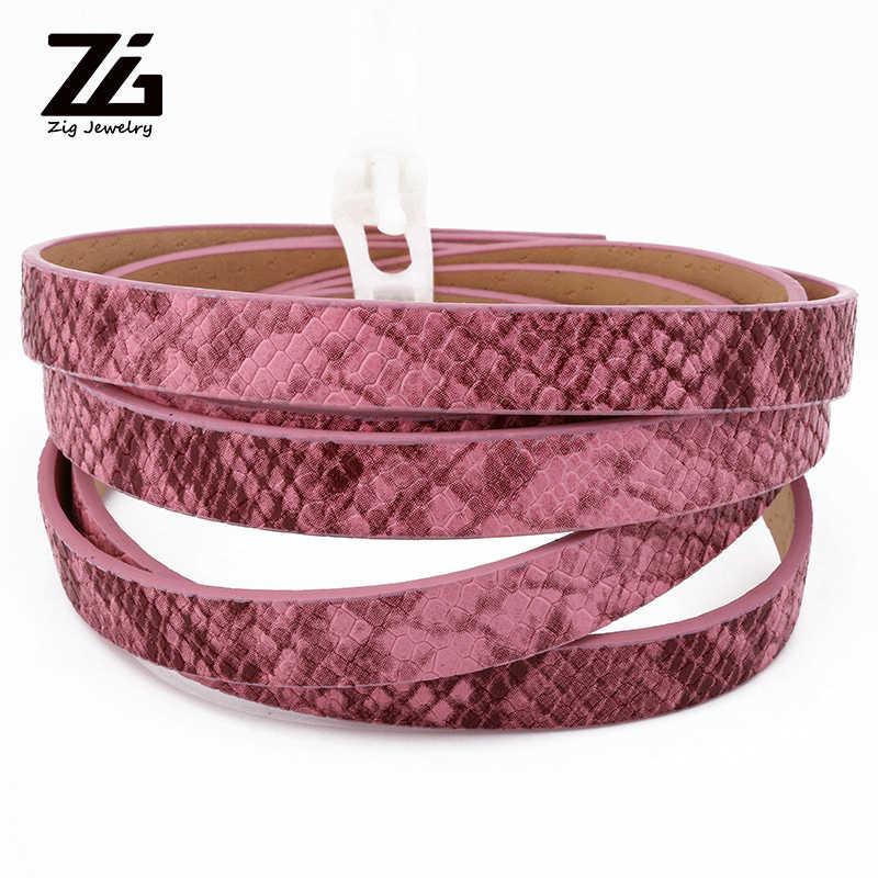 Cordón de cuero PU ZG, cordones de piel de serpiente de imitación para fabricación de joyas, pulsera de collar DIY 10x2mm; Alrededor de 1,2 m/hebra