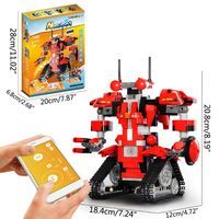 1Set DIY Robot App Controlled Toy Educational Electric RC Robot Bricks Toys Intelligent Charging Gift for Boys Girls