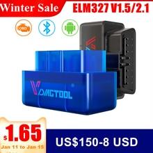 ELM327 OBD2 Scanner ELM327 Bluetooth ELM 327 V1.5/2.1 Single PCB Code Reader Car Diagnostic Tool Automotivo for Android Windows