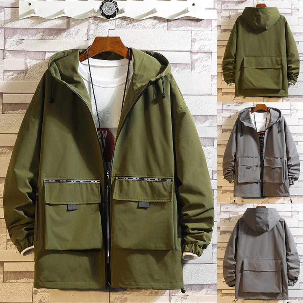 Chaquetas y abrigos para hombre Otoño e invierno chaqueta con capucha Casual de moda para hombre