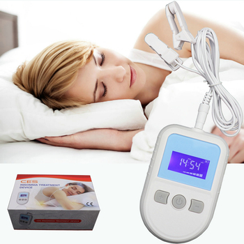 Newest Anti Sleep Electrotherapy Alpha CES Stim Device for Anxiety Insomnia and Depression Cure Migraine Neurosism цена 2017