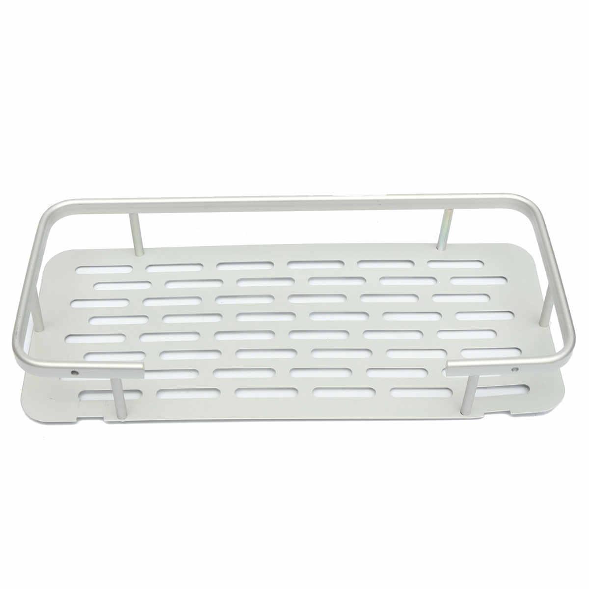 1/2/3 poziomy łazienka prysznic Aluminium wanna uchwyt do szampony żel pod prysznic kuchnia domu balkon półki wiszące stojak do przechowywania