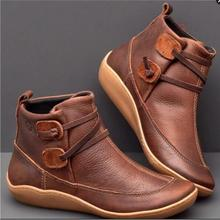 Women Boots Genuine Leather Woman Ankle Boots