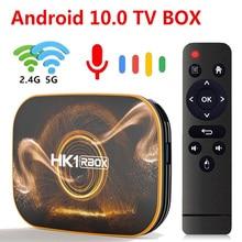 TEKASMI HK1 RBOX مربع التلفزيون الذكية أندرويد 10 Rockchip RK3318 4GB 64GB 32GB H.265 2.4G 5GHz واي فاي بلوتوث 4K مجموعة صندوق فوقي 2GB 16GB