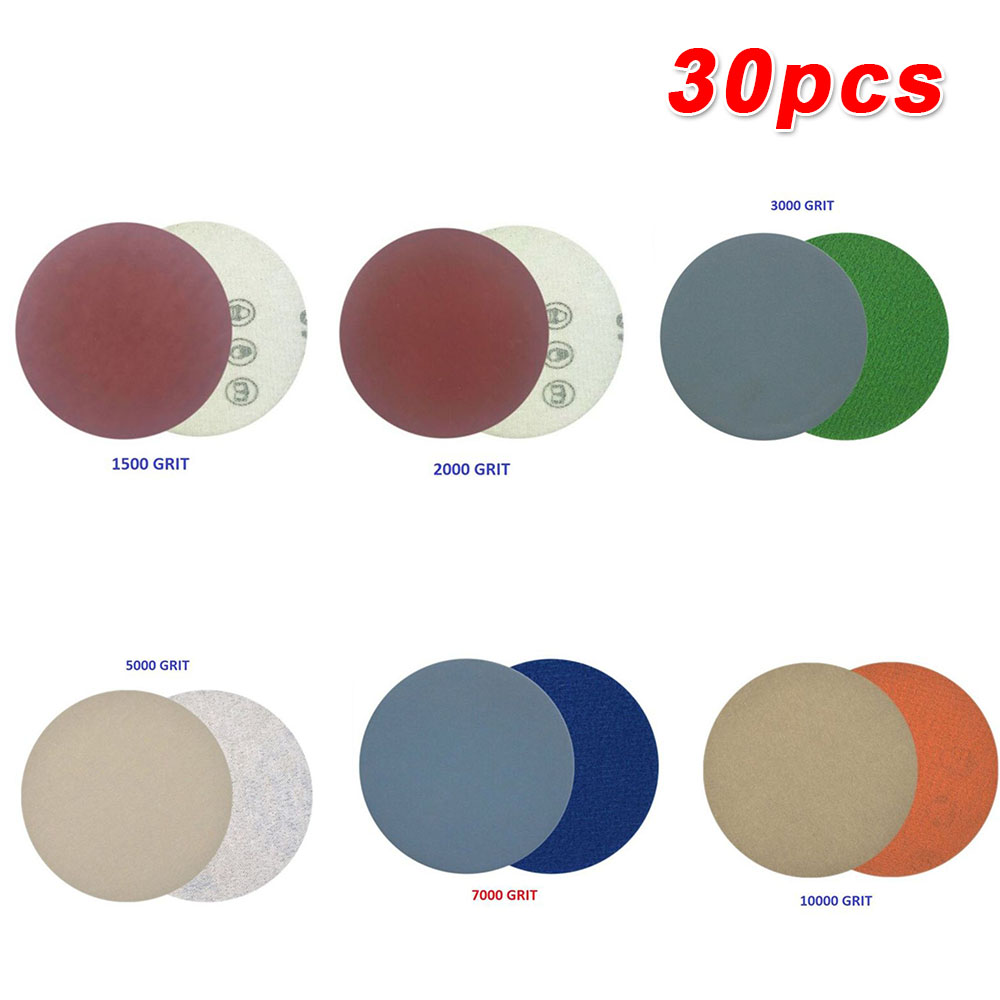 996A2Inch Disc Sandpaper Wet/Dry Grinding Polishing 50mm Sanding Disc 1500-10000 For Wood Furniture Car Polishing