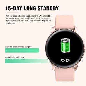 Image 3 - KOSPET ماجيك النساء ساعة ذكية الرجال رصد معدل ضربات القلب الدم الأكسجين اللياقة البدنية المقتفي KW19 Smartwatch للهاتف IOS أندرويد شاومي