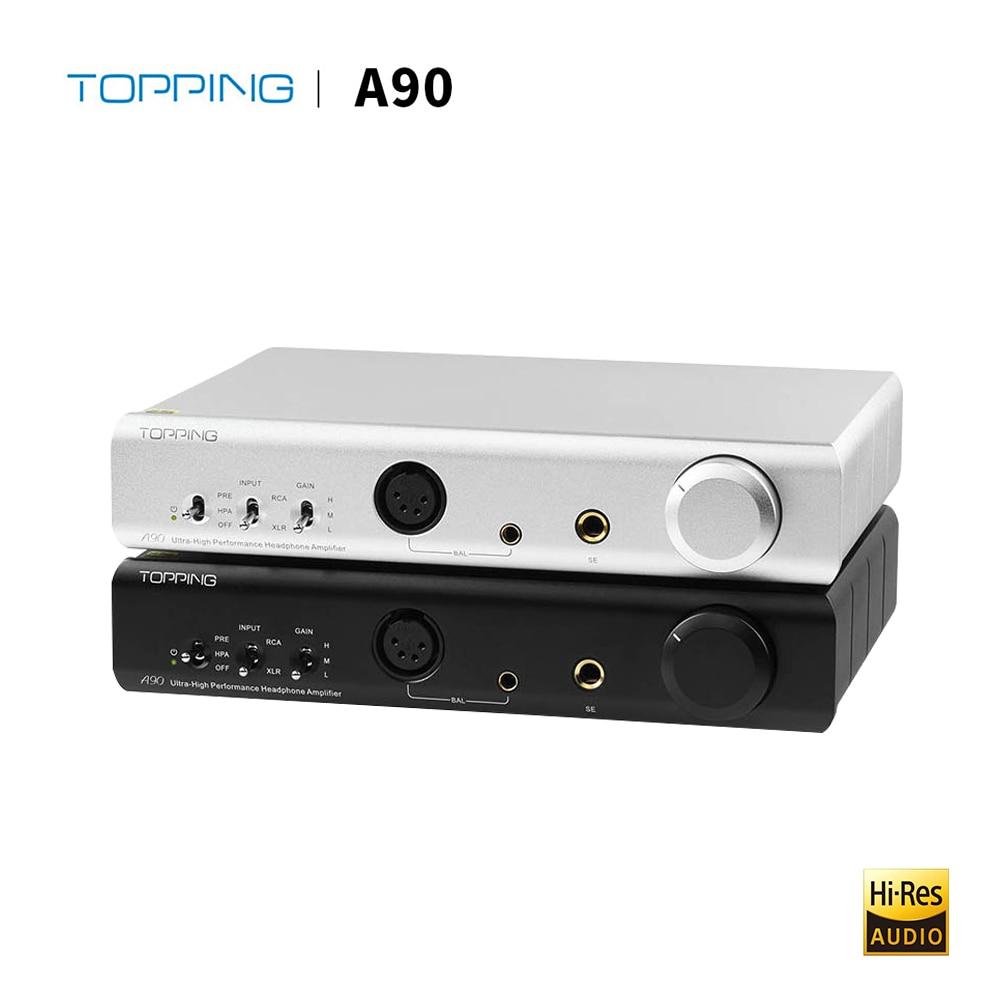 Topping A90 Настольный усилитель для наушников полностью сбалансированный Hi-Res цифровой Hi-Fi музыкальный портативный усилитель для наушников amp ...