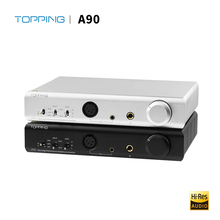 Topping A90 Desktop Headphone Amplifier fully balanced Hi Res Digital HiFi Music Portable headphone amp Audio XLR Pre Amplifier