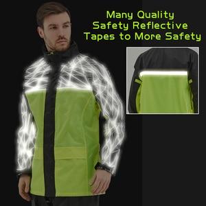 Image 4 - QIAN Raincoat Suit Impermeable Women/Men Hooded Motorcycle Poncho Rain Coat Motorcycle Rainwear S 4XL Hiking Fishing Rain Gear