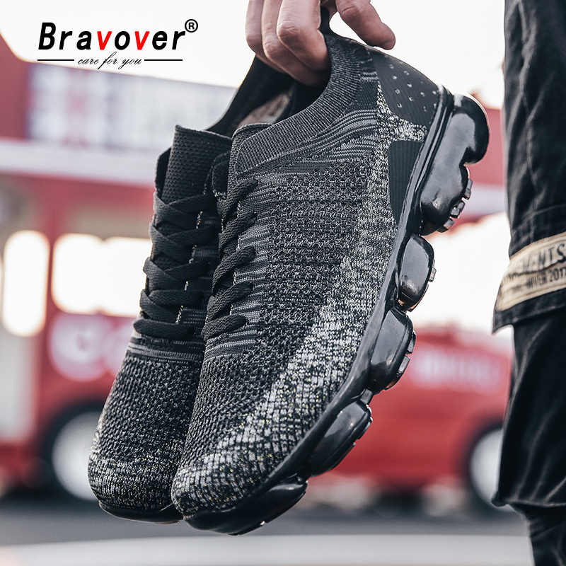 New Running Shoes For Men Breathable Mesh Air Cushion Shoes Wear-resistant Trainer Sport Shoes Walking Jogging Unisex Sneakers
