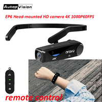 EP6 4K Camera Video Camcorder Full Hd 1080p WiFi Wearable YouTube Camera with Wrist remote control for Vlog