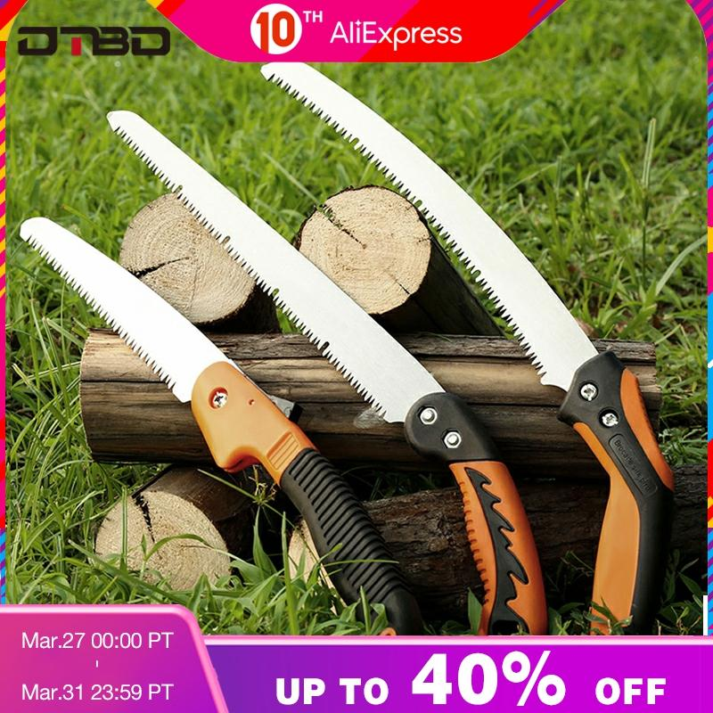 Portable Home Manual Pruning Hacksaws Garden Folding Trimming Saw Pruning Garden Household Anti-skip Hand Steel Sawing Tool