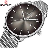 NAVIFORCE Top marka luksusowe kobiety mężczyźni zegarki dla par wodoodporny mężczyzna zegarka prawdziwej skóry mody kwarcowy mężczyzna pani zegar prezent