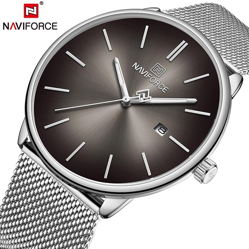 NAVIFORCE Top Brand Luxury Women Men Couple Wrist Watch Waterproof Man Watch Genuine Leather Fashion Quartz Male Lady Clock Gift