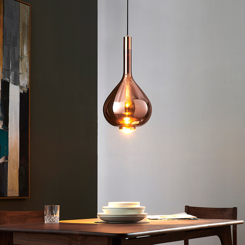 Design moderno di Arte Colorful LED Lampade a sospensione In Vetro LOFT di Illuminazione Lungo la Linea Lampada a Sospensione Ristorante Deco Coperta Light Fixtures - 6