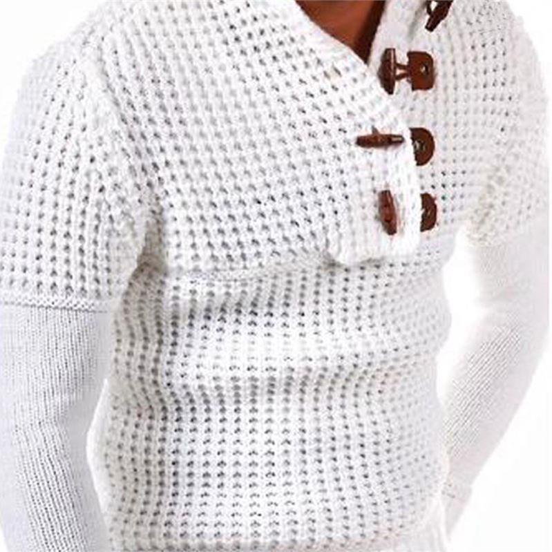 Vintage Cardigan Sweater Coat Men Winter Fashion Turtleneck Sweaters Casual Warm Knitting Tricot Jumpers Button Sweater Coats