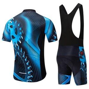 Image 2 - Новая летняя одежда teleyi для велоспорта, Джерси с коротким рукавом, комплект одежды для велоспорта, быстросохнущая одежда, велосипедная одежда для горного велосипеда