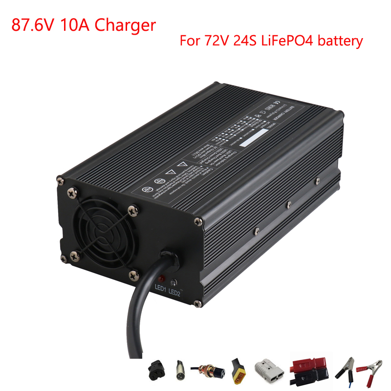 900W <font><b>72V</b></font> 8A 10A <font><b>LiFePO4</b></font> charger Ouput 87.6V 10A charger Used for <font><b>72V</b></font> 24S LFP <font><b>LiFePO4</b></font> <font><b>battery</b></font> <font><b>pack</b></font> DHL Free shipping image