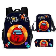 Game-Figure-Backpack Laptop-Bag Pencil-Box Among Anime Children Waterproof Nylon US Large-Capacity