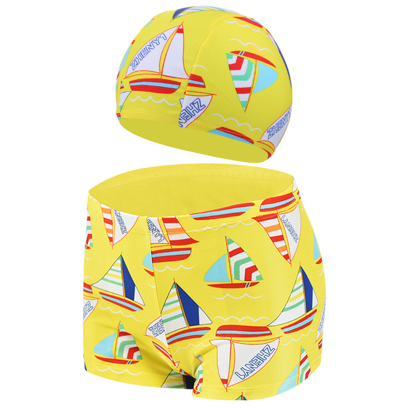 CHILDREN'S Swimming Trunks Swimming Cap Big Boy Bubble Hot Spring Children Swimming Trunks South Korea Cartoon CHILDREN'S Swimmi