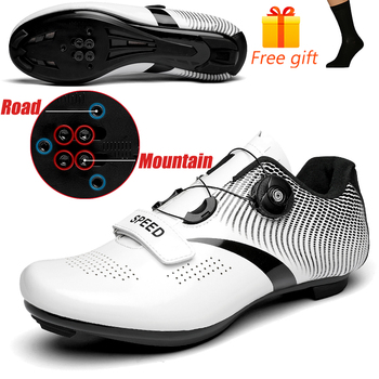 Discolor Cycling Shoes Man MTB Mountain Bike Shoes SPD Cleats Road Bicycle Shoes Sports Outdoor Training Cycle Sneakers 14