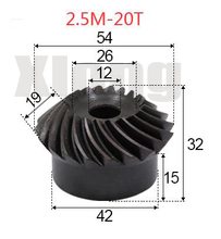 2pcs 2.5M-20 Teeths Inner Hole: 12mm Precision Spiral Bevel Gear Spiral Bevel Gear стоимость