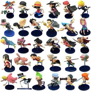 6pcs/lot Anime One Piece Luffy Zoro Sanji Charlotte Boa Hancock Rayleigh Ace Mini Dolls PVC Action Model Figure Collection Toys anime one piece 6pcs set dramatic showcase 1st season luffy zoro nami usopp sanji chopper pvc action figures collectible toys