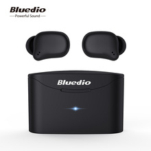 Orignal Bluedio senza fili di bluetooth del trasduttore auricolare per il telefono Telf 2 TWS stereo sport auricolari auricolare con scatola di carico built in mic
