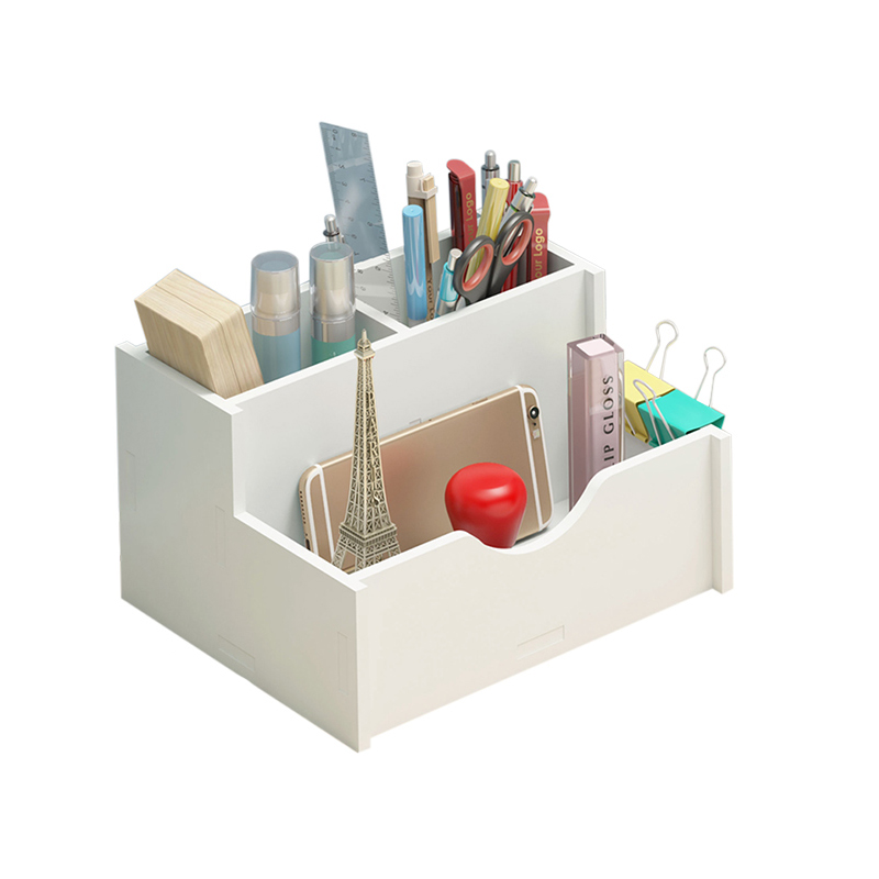 DIY Desk Stationery Holders White Organizer School Office Holder Stationery Organizer Multipurpose Desktop Sundries Storage Box