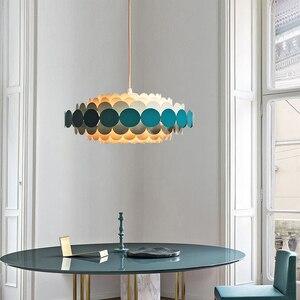 Image 5 - الحديث جولة الأزرق البتلة أضواء الثريا غرفة المعيشة غرفة نوم Led الشمال الثريات تركيبات إضاءة داخلية Lustres دي كريستال