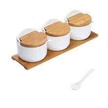 Мода-набор сахара и крема, керамический контейнер для сахара с крышкой и ложкой