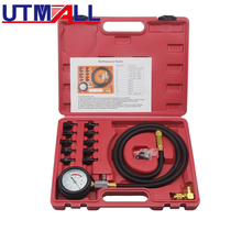 Full System Automotive Engine Oil Pressure Test Kit Tester Car Garage Tool 0 140PSI Low Oil Warning Devices