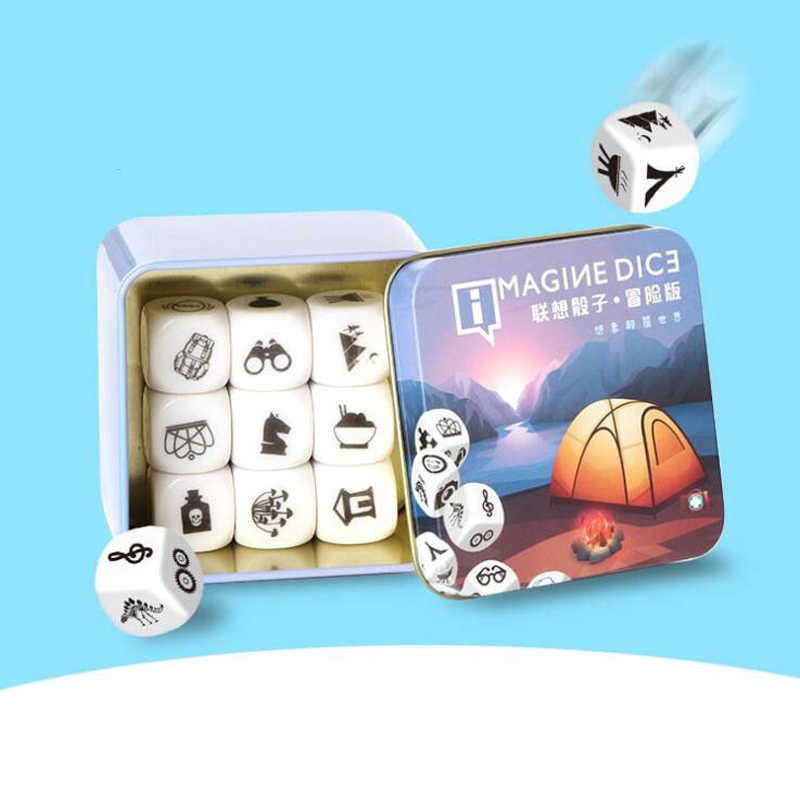 Diy Dice Game Verhaal Metalen Dozen Familie/Party/Vrienden Ouders Met Kinderen Grappige Voorstellen Magic Speelgoed