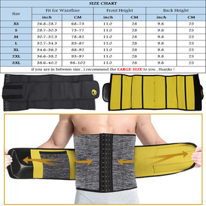 Image 5 - NINGMI 슬리밍 속옷 남성용 허리 트레이너 바디 셰이퍼 Shapewear Gridle 네오프렌 사우나 남성 모델링 벨트 체중 감소 스트랩